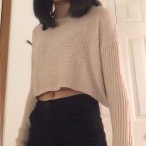 silence + noise cropped sweater